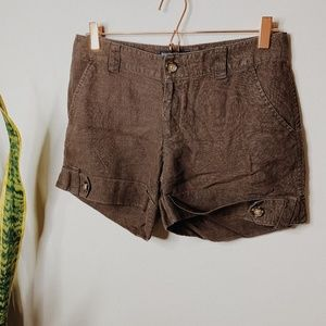 • BANANA REPUBLIC FACTORY • army green shorts